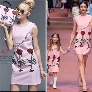 Pink Dress for Mother's Daughter matches